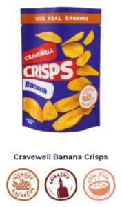 Cravewell Banana Crisps Shop Now Image