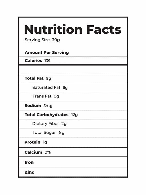 Rice Crisps Nutrition Facts